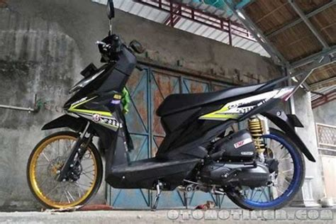 Honda Beat Velg 14 Jari Jari by 200 Modifikasi Motor Beat 2019 Babylook Thailook