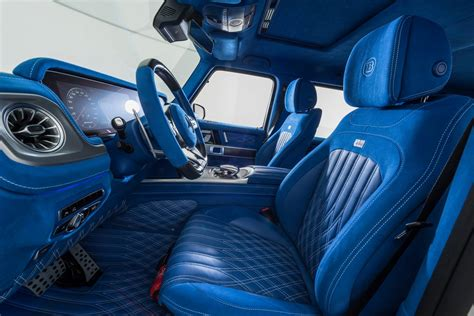 bright blue brabus interior   mercedes amg