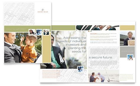 investment advisor brochure template word publisher