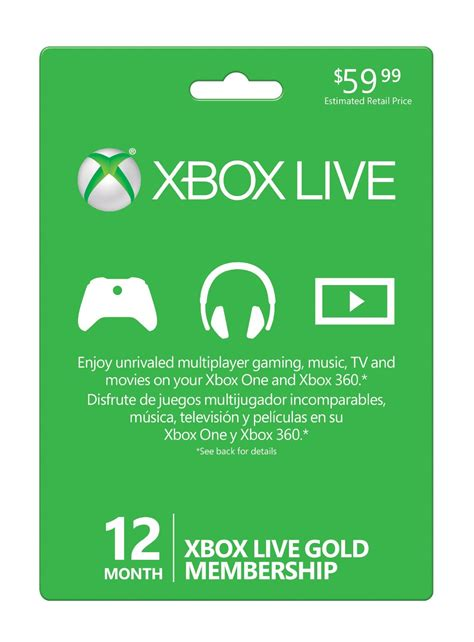 Xbox Live And Xbox Live Gold Save 20 On Xbox Live Gold 12 Month Membership Oprainfall