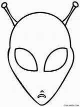Alien Coloring Pages Printable Aliens Head Space Cool2bkids Colouring Printables Template Drawing Books Discover sketch template