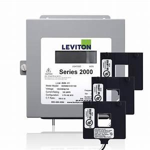 Leviton Series 2000 Three Phase Indoor Meter Kit  480