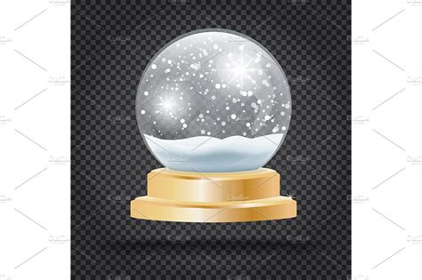 christmas crystal ball  snow illustrations