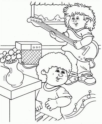 Coloring Pages Cabbage Patch Clipart Doll Dolls