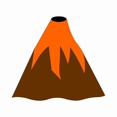 Clipart Volcano Mountain Mountains Volcanic Transparent Lava