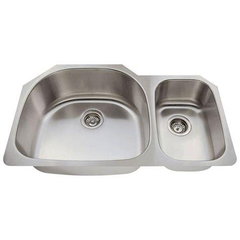 brushed stainless steel undermount kitchen sink polaris sinks undermount stainless steel 35 in 9321
