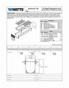 Watts Dead Level Dx User Manual