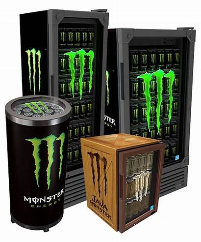 Monster Idw Coolers Energy Display Displays Fridges