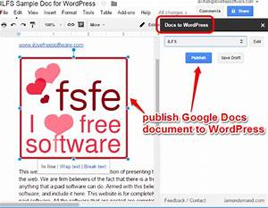 how to publish google docs to wordpress With google docs word plugin