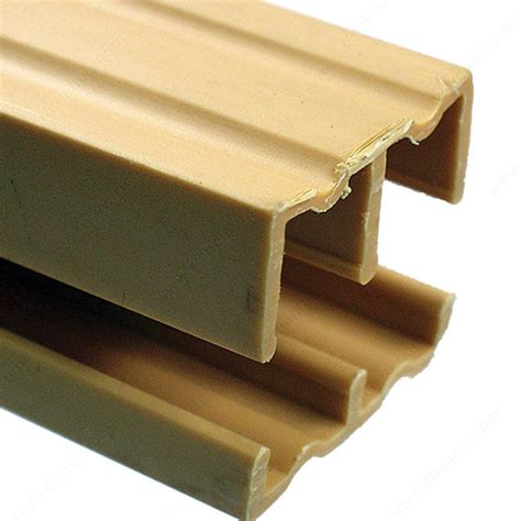 Plastic Sliding Cabinet Door Track by Plastic Track For 1 2 Quot Sliding Doors Richelieu Hardware