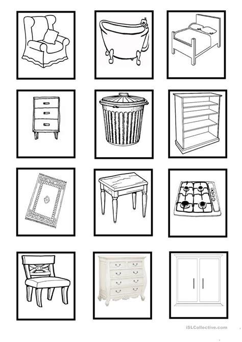 esl householdobjects worksheets