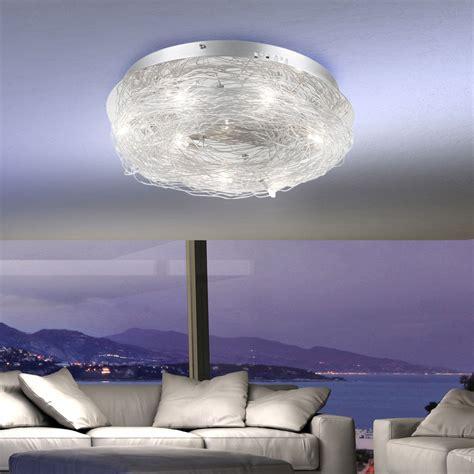 design deckenleuchte wohnzimmer deckenle beleuchtung flur le chrom alu ebay