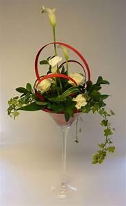 decoration de table en vase martini fleurs mariage With chambre bébé design avec fleurs en bouquet