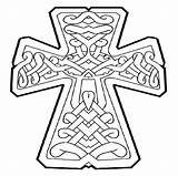 Coloring Cross Cool Crosses Celtic Printable Detailed Tattoo Stitch Draw Symbols sketch template