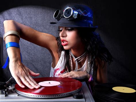 sexy dj girl  fashion desktop wallpaper preview
