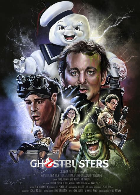 ghostbusters film poster  behance