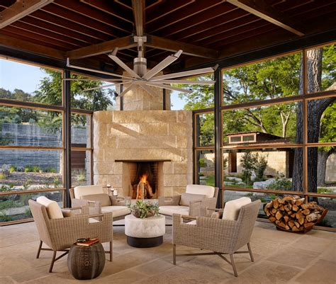 modern ranch contemporary sunroom houston  poet