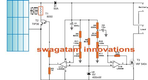 Solar Water Heater With Battery Charger Controller Circuit