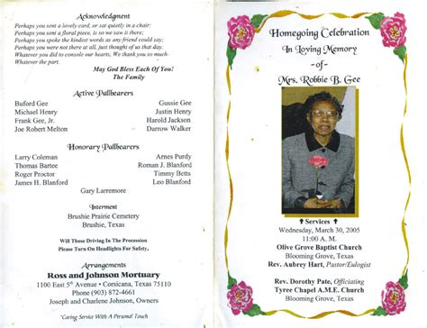 obituary program template sle obituary wording pictures to pin on pinsdaddy