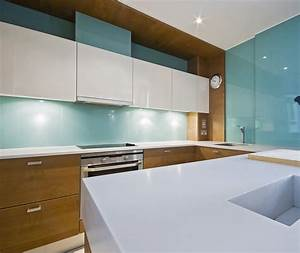 see the benefits of acrylic backsplash for kitchen homesfeed With kitchen colors with white cabinets with how to hang glass art on wall