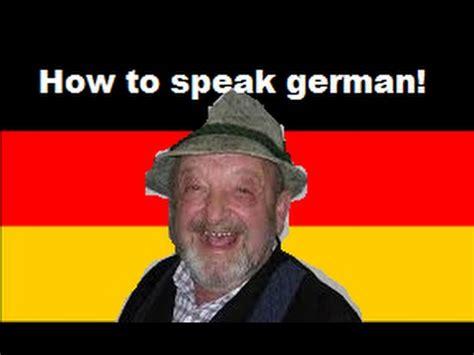 How To Speak German Youtube