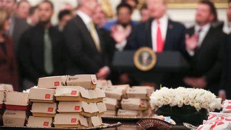 trump food fast feeds athletes college again 2560 1440