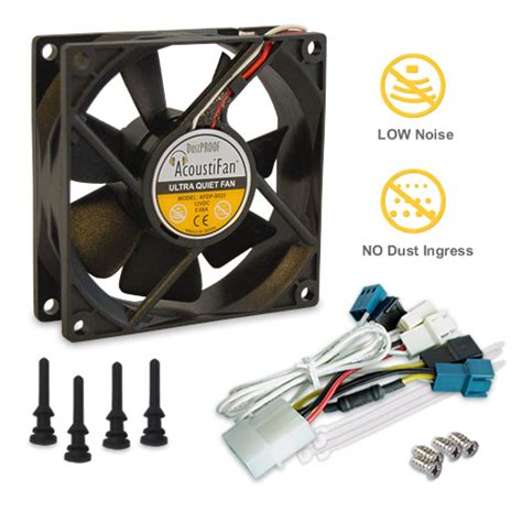ultra quiet pc fans acoustifan dustproof premium quality ultra quiet computer