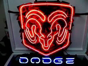 Wiki Neon Sign Blog DODGE CHRYSLER US CAR AUTO NEON SIGN