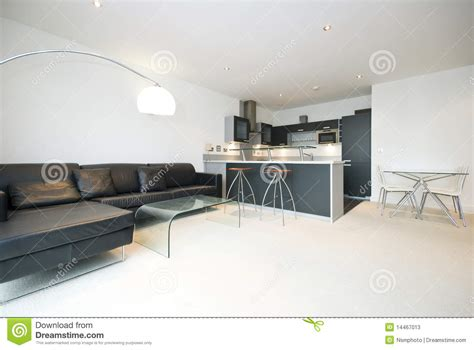 cuisine living contemporary open plan living room with kitchen stock