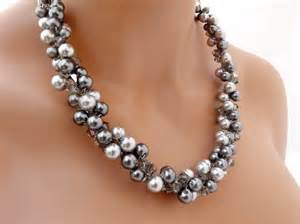 wedding rings sets for grey pearl necklace chunky wedding necklace and
