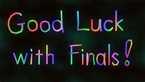 """iNet Wishes You: """"Good Luck with Final Exams, Papers, and ..."""