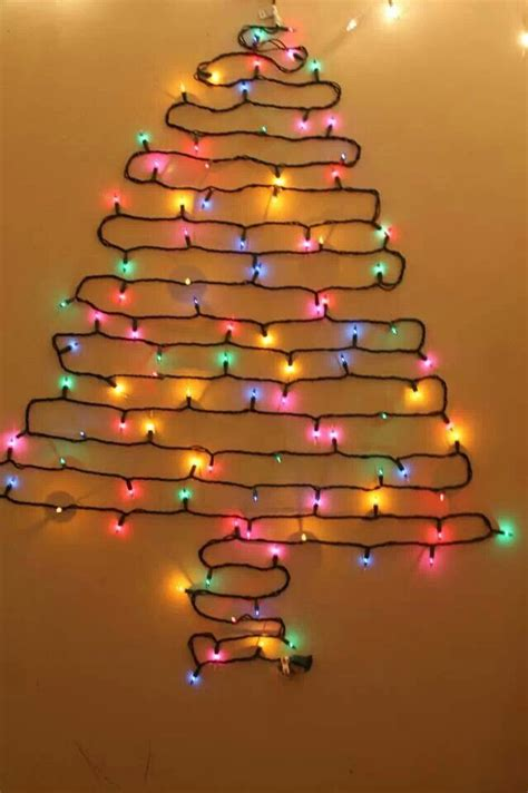 christmas tree lights on the wall crafty crafts do it