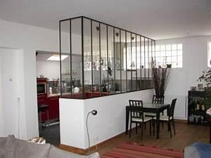 Verrière Intérieure Ikea : 13 cuisines s par es du salon par une verri re ~ Melissatoandfro.com Idées de Décoration