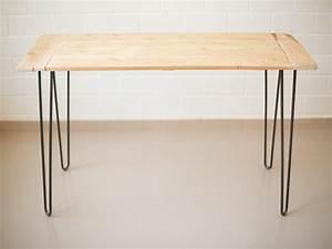 Tisch aus alten dielen und hairpin legs bauen for Tisch aus dielen