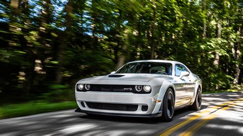 wallpaper dodge challenger srt hellcat widebody white hd