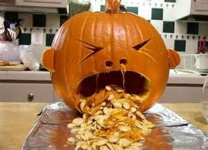Puking Pumpkin Carving Patterns Free by Saint Marty October 2011