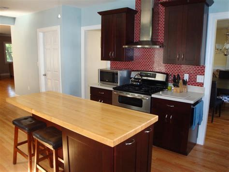 wood island tops kitchens butcher block and wood countertops hgtv