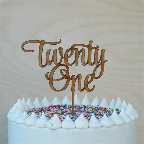 twenty  cake topper happy st birthday anniversary