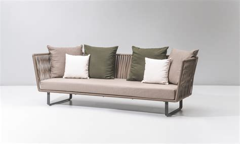canapé italien sofa kettal bitta canapé 3 places