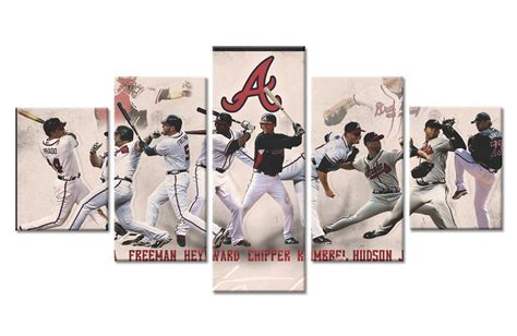 Choose your favorite atlanta braves designs and purchase them as wall art, home decor, phone cases, tote bags, and more! Atlanta Braves Players Baseball - 5 Panel Canvas Art Wall Decor - Canvas Storm