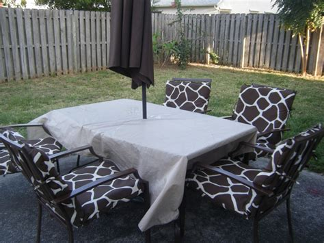 take an rusted patio set and turn it into a brand new