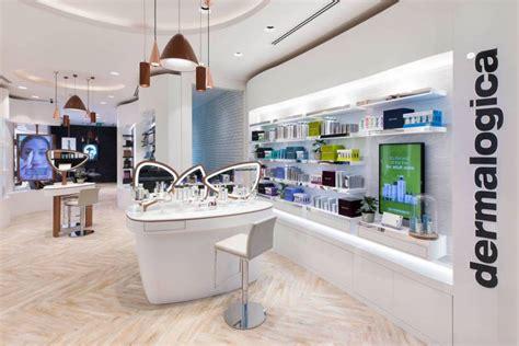 Corian Store dermalogica flagship store uses corian 174 design to create