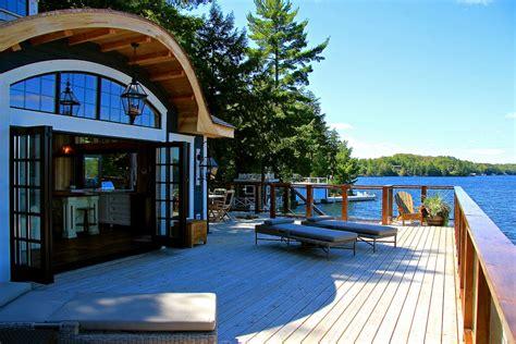 muskoka lakeside cottage boathouse idesignarch interior design architecture interior