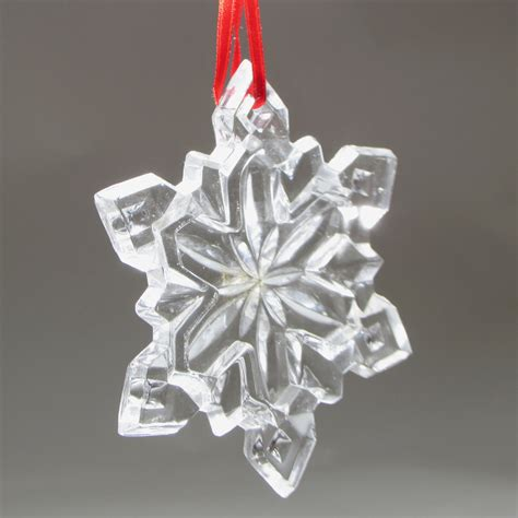 glass snowflake christmas tree ornament star 3 1 2 by