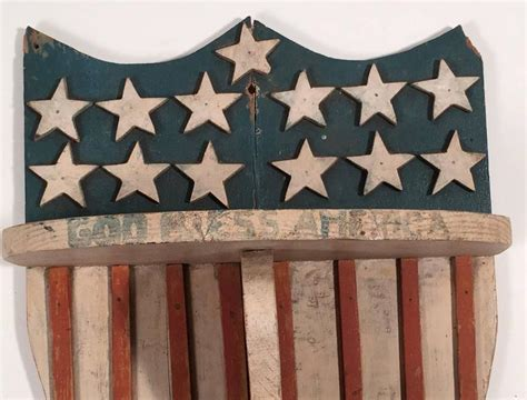hanging cabinet for kitchen pictures patriotic and stripes wall shelf circa 1900 at 1stdibs 6986