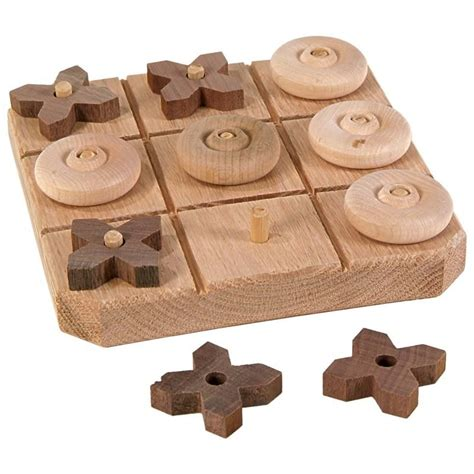 youll love  handmade wooden tic tac toe game smooth