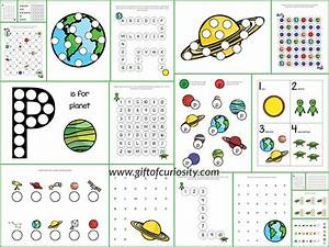 Planets Do-a-Dot Printables {free} - Gift of Curiosity