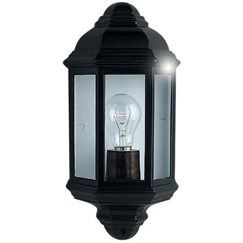 searchlight black outdoor flush wall light