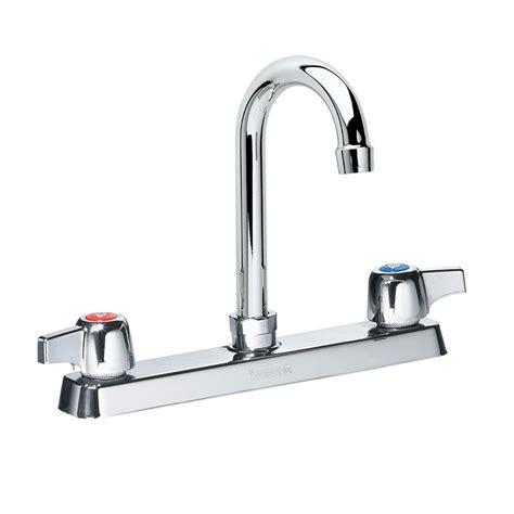 Krowne Commercial Kitchen Faucets by Krowne 13 802l Deck Mount Faucet 8 5 Quot Gooseneck Spout 8