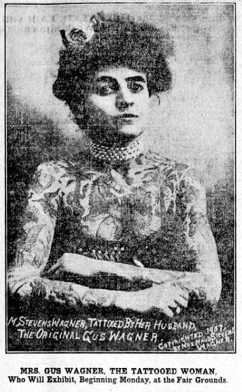 See Gus & Maud Wagner, the famous tattooed couple who